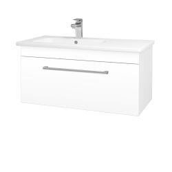 Dřevojas - Koupelnová skříň ASTON SZZ 90 - N01 Bílá lesk / Úchytka T03 / L01 Bílá vysoký lesk (199777C)
