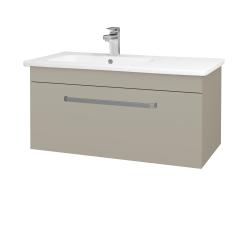 Dřevojas - Koupelnová skříň ASTON SZZ 90 - L04 Béžová vysoký lesk / Úchytka T01 / L04 Béžová vysoký lesk (199609A)