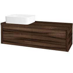 Dřevojas - Koupelnová skříň STORM SZZ2 120 (umyvadlo Joy) - D06 Ořech / D06 Ořech / Pravé (214074P)
