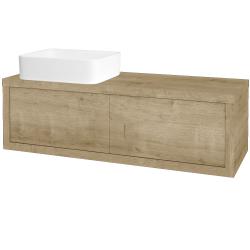 Dřevojas - Koupelnová skříň STORM SZZ2 120 (umyvadlo Joy) - D09 Arlington / D09 Arlington / Levé (213701)