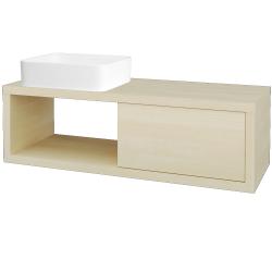 Dřevojas - Koupelnová skříň STORM SZZO 120 (umyvadlo Joy) - D02 Bříza / D02 Bříza / Levé (214425)
