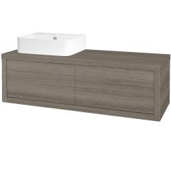 Dřevojas - Koupelnová skříň STORM SZZ2 120 (umyvadlo Joy 3) - D03 Cafe / D03 Cafe / Levé (218331)