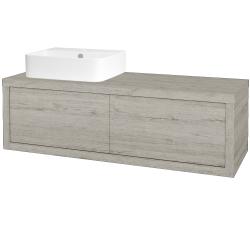 Dřevojas - Koupelnová skříň STORM SZZ2 120 (umyvadlo Joy 3) - D05 Oregon / D05 Oregon / Pravé (218744P)