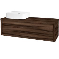 Dřevojas - Koupelnová skříň STORM SZZ2 120 (umyvadlo Joy 3) - D06 Ořech / D06 Ořech / Levé (218362)