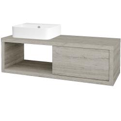 Dřevojas - Koupelnová skříň STORM SZZO 120 (umyvadlo Joy 3) - D05 Oregon / D05 Oregon / Pravé (219529P)