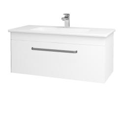 Dřevojas - Koupelnová skříň ASTON SZZ 100 - N01 Bílá lesk / Úchytka T01 / M01 Bílá mat (199968A)