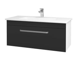 Dřevojas - Koupelnová skříň ASTON SZZ 100 - N01 Bílá lesk / Úchytka T01 / N03 Graphite (199982A)
