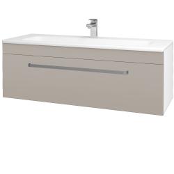 Dřevojas - Koupelnová skříň ASTON SZZ 120 - N01 Bílá lesk / Úchytka T01 / N07 Stone (200169A)