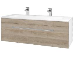 Dřevojas - Koupelnová skříň ASTON SZZ 120 - N01 Bílá lesk / Úchytka T03 / D17 Colorado (200114CU)