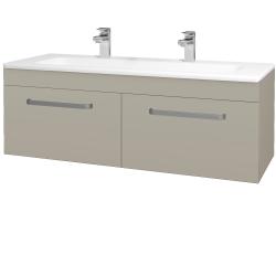 Dřevojas - Koupelnová skříň ASTON SZZ2 120 - M05 Béžová mat / Úchytka T01 / M05 Béžová mat (200251AU)