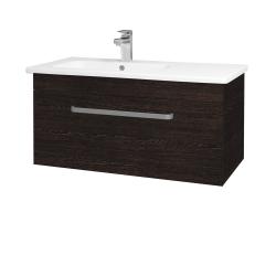 Dřevojas - Koupelnová skříň ASTON SZZ 90 - D08 Wenge / Úchytka T01 / D08 Wenge (199517A)
