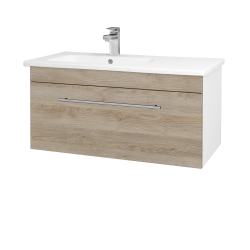 Dřevojas - Koupelnová skříň ASTON SZZ 90 - N01 Bílá lesk / Úchytka T02 / D17 Colorado (199753B)