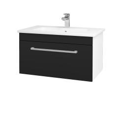 Dřevojas - Koupelnová skříň ASTON SZZ 80 - N01 Bílá lesk / Úchytka T03 / N08 Cosmo (199401C)