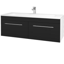 Dřevojas - Koupelnová skříň ASTON SZZ2 120 - N01 Bílá lesk / Úchytka T02 / N08 Cosmo (200336B)