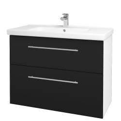 Dřevojas - Koupelnová skříň BIG INN SZZ2 100 - N01 Bílá lesk / Úchytka T02 / N08 Cosmo (200831B)