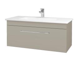 Dřevojas - Koupelnová skříň ASTON SZZ 100 - L04 Béžová vysoký lesk / Úchytka T04 / L04 Béžová vysoký lesk (109325E)