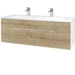 Dřevojas - Koupelnová skříň ASTON SZZ 120 - N01 Bílá lesk / Úchytka T04 / D09 Arlington (109431EU)