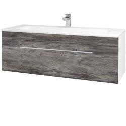 Dřevojas - Koupelnová skříň ASTON SZZ 120 - N01 Bílá lesk / Úchytka T04 / D10 Borovice Jackson (109448E)