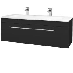 Dřevojas - Koupelnová skříň ASTON SZZ 120 - L03 Antracit vysoký lesk / Úchytka T04 / L03 Antracit vysoký lesk (109622EU)