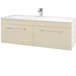 Dřevojas - Koupelnová skříň ASTON SZZ2 120 - N01 Bílá lesk / Úchytka T04 / D02 Bříza (131173E)