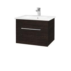 Dřevojas - Koupelnová skříň ASTON SZZ 60 - D08 Wenge / Úchytka T04 / D08 Wenge (131296E)