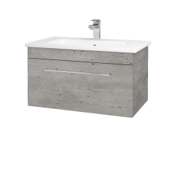 Dřevojas - Koupelnová skříň ASTON SZZ 80 - D01 Beton / Úchytka T04 / D01 Beton (131302E)