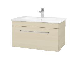 Dřevojas - Koupelnová skříň ASTON SZZ 80 - D02 Bříza / Úchytka T04 / D02 Bříza (131319E)