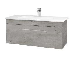 Dřevojas - Koupelnová skříň ASTON SZZ 100 - D01 Beton / Úchytka T04 / D01 Beton (131371E)