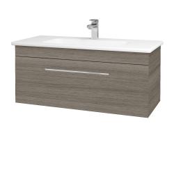 Dřevojas - Koupelnová skříň ASTON SZZ 100 - D03 Cafe / Úchytka T04 / D03 Cafe (131395E)