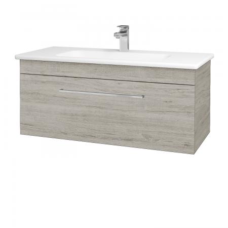 Dřevojas - Koupelnová skříň ASTON SZZ 100 - D05 Oregon / Úchytka T04 / D05 Oregon (131418E)
