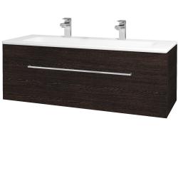 Dřevojas - Koupelnová skříň ASTON SZZ 120 - D08 Wenge / Úchytka T04 / D08 Wenge (131500EU)