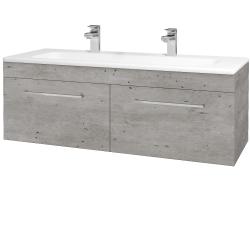 Dřevojas - Koupelnová skříň ASTON SZZ2 120 - D01 Beton / Úchytka T04 / D01 Beton (131517EU)