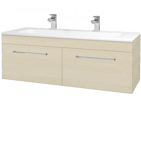 Dřevojas - Koupelnová skříň ASTON SZZ2 120 - D02 Bříza / Úchytka T04 / D02 Bříza (131524EU)
