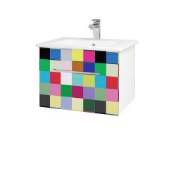 Dřevojas - Koupelnová skříň ASTON SZZ 60 - N01 Bílá lesk / Úchytka T04 / IND Individual (137458E)