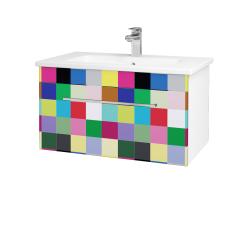 Dřevojas - Koupelnová skříň ASTON SZZ 80 - N01 Bílá lesk / Úchytka T04 / IND Individual (137465E)