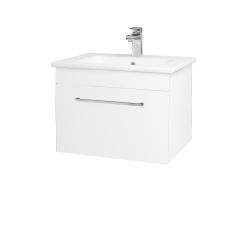 Dřevojas - Koupelnová skříň ASTON SZZ 60 - N01 Bílá lesk / Úchytka T04 / L01 Bílá vysoký lesk (137496E)