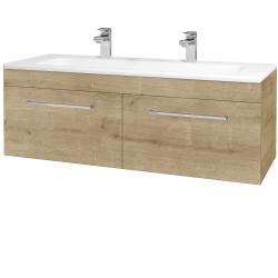 Dřevojas - Koupelnová skříň ASTON SZZ2 120 - D09 Arlington / Úchytka T04 / D09 Arlington (146900EU)