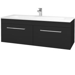 Dřevojas - Koupelnová skříň ASTON SZZ2 120 - L03 Antracit vysoký lesk / Úchytka T04 / L03 Antracit vysoký lesk (146955E)