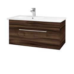 Dřevojas - Koupelnová skříň ASTON SZZ 90 - D06 Ořech / Úchytka T04 / D06 Ořech (199500E)