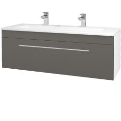 Dřevojas - Koupelnová skříň ASTON SZZ 120 - N01 Bílá lesk / Úchytka T04 / N06 Lava (200152EU)