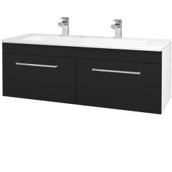 Dřevojas - Koupelnová skříň ASTON SZZ2 120 - N01 Bílá lesk / Úchytka T04 / N08 Cosmo (200336EU)