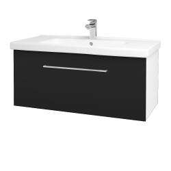 Dřevojas - Koupelnová skříň BIG INN SZZ 100 - N01 Bílá lesk / Úchytka T04 / N08 Cosmo (201470E)