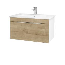 Dřevojas - Koupelnová skříň ASTON SZZ 80 - N01 Bílá lesk / Úchytka T05 / D09 Arlington (108816F)