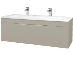 Dřevojas - Koupelnová skříň ASTON SZZ 120 - L04 Béžová vysoký lesk / Úchytka T05 / L04 Béžová vysoký lesk (109639FU)