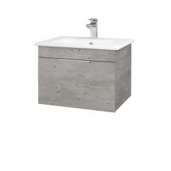 Dřevojas - Koupelnová skříň ASTON SZZ 60 - D01 Beton / Úchytka T05 / D01 Beton (131234F)