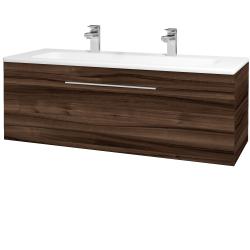 Dřevojas - Koupelnová skříň ASTON SZZ 120 - D06 Ořech / Úchytka T05 / D06 Ořech (131494FU)