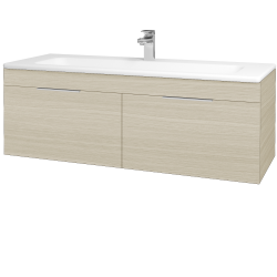 Dřevojas - Koupelnová skříň ASTON SZZ2 120 - D04 Dub / Úchytka T05 / D04 Dub (131548F)