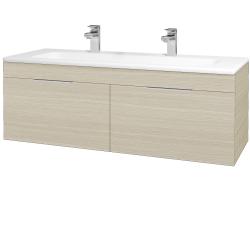 Dřevojas - Koupelnová skříň ASTON SZZ2 120 - D04 Dub / Úchytka T05 / D04 Dub (131548FU)