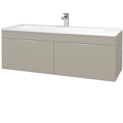 Dřevojas - Koupelnová skříň ASTON SZZ2 120 - L04 Béžová vysoký lesk / Úchytka T05 / L04 Béžová vysoký lesk (146962F)