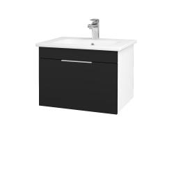 Dřevojas - Koupelnová skříň ASTON SZZ 60 - N01 Bílá lesk / Úchytka T05 / N08 Cosmo (199241F)